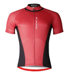Ilpaladino Simple Red&Black Men's Breathable Short-Sleeve Cycling Jersey Bicycling Shirts Summer Quick Dry Sportswear Apparel Outdoor Sports Gear Leisure Biking T-shirt NO.703 -  Cycling Apparel, Cycling Accessories | BestForCycling.com