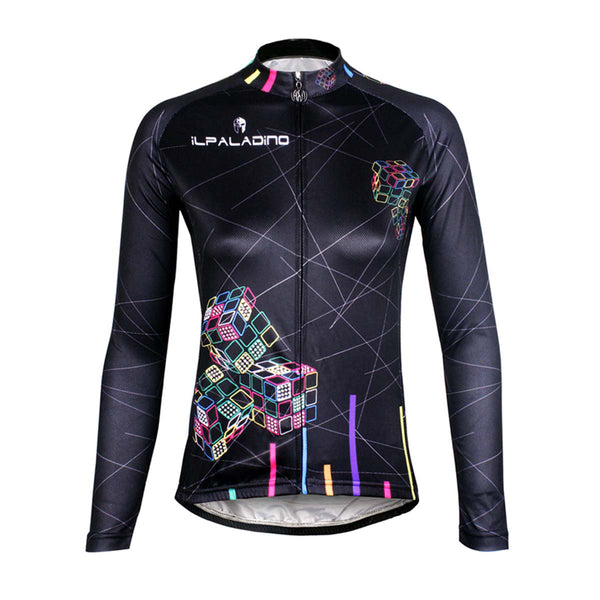 ILPALADINO Women's Long Sleeves Cycling Jersey Apparel Outdoor Sports Gear Leisure Biking T-shirt (Velvet) NO.712 -  Cycling Apparel, Cycling Accessories | BestForCycling.com