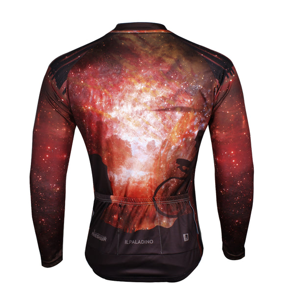 ... ILPARADINO Cyclist Starry Night Men s Long Sleeves Cycling Jacket  Bicycling Apparel Outdoor Sports Leisure Biking Shirt ... a9f9f9acc