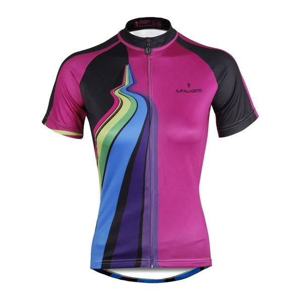 ILPALADINO Purple Women's Cycling Jersey High-quality Bike Shirt Cycling Girl Clothes Apparel Outdoor Sports Gear Leisure Biking T-shirt NO.749 -  Cycling Apparel, Cycling Accessories | BestForCycling.com