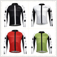 ILPALADINO Men's Breathable Long-sleeve White Cycling Jersey with Black-strip Outdoor Leisure Sport Biking Shirt Spring Fall/Autumn Bicycle Sportswear Clothing NO.773 -  Cycling Apparel, Cycling Accessories | BestForCycling.com