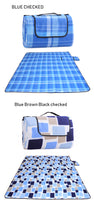2*2m Large Striped Checked Dual Layers Portable Outdoor Family Beach/ Park/Camping/Concerts/Picnic Blanket Mat- Handle Extra,Foldable, Waterproof, Sand-proof -  Cycling Apparel, Cycling Accessories | BestForCycling.com