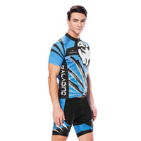 Wolverine Wolf Blue Men's Cycling Short-sleeve Jersey/Suit Exercise Bicycling Pro Cycle Clothing Racing Apparel Outdoor Sports Leisure Biking Shirts Team Summer Kit NO. 811 -  Cycling Apparel, Cycling Accessories | BestForCycling.com