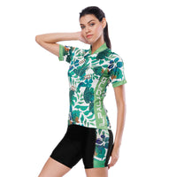 Tropical Plant Fresh Green Leaves Nordic Style Women's Cycling Short-sleeve Bike Jersey/Kit T-shirt Summer Spring Road Bike Wear Mountain Bike MTB Clothes Sports Apparel Top / Suit NO. 803 -  Cycling Apparel, Cycling Accessories | BestForCycling.com