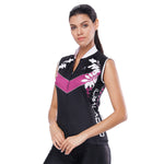 Leaves Purple Arrow Black Night Women's Cycling Sleeveless Bike Jersey T-shirt Summer Spring Road Bike Wear Mountain Bike MTB Clothes Sports Apparel Top NO. 809