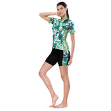 Tropical Plant Fresh Green Leaves Nordic Style Women's Cycling Short-sleeve Bike Jersey/Kit T-shirt Summer Spring Road Bike Wear Mountain Bike MTB Clothes Sports Apparel Top / Suit NO. 803