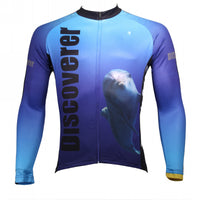 [Discoverer series ] llpaladino Shark Dolphin Nature Blue Short-sleeve Cycling Suit/Jersey Jacket- Summer Spring Clothes Sportswear Pro Cycle Clothing Racing Apparel Outdoor Sports Leisure Biking T-shirt NO.304 -  Cycling Apparel, Cycling Accessories | BestForCycling.com