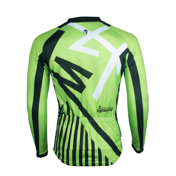 ... ILPALADINO Men s Green Long Sleeves Cycling Jersey Spring Autumn  Exercise Bicycling Pro Cycle Clothing Racing Apparel ... a0cf93c26