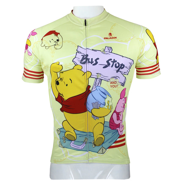 Ilpaladino Winnie the Pooh Man's Spring Summer Sportswear Short/long-sleeve Cycling Jersey Apparel Outdoor Sports Gear Leisure Biking T-shirt Cartoon World NO.97 -  Cycling Apparel, Cycling Accessories | BestForCycling.com
