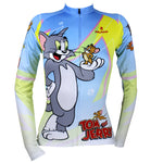 Ilpaladino Tom And Jerry Cats and Mouses Woman's Short/Long-sleeve Bike Shirt Cycling Jersey/Suit Sportswear Bicycling Pro Cycle Clothing Racing Apparel Outdoor Sports Leisure Biking T-shirt Cartoon World NO.099 -  Cycling Apparel, Cycling Accessories | BestForCycling.com