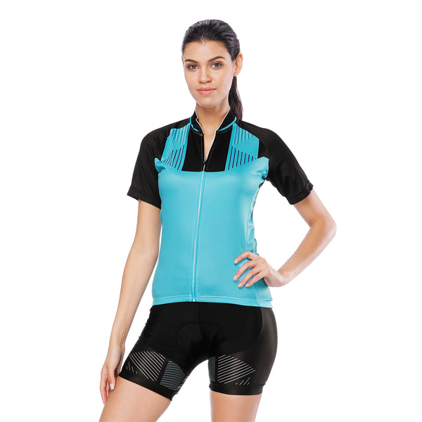 Simple Cool Blue Women's Cycling Short-sleeve Bike Jersey/Kit T-shirt Summer Spring Road Bike Wear Mountain Bike MTB Clothes Sports Apparel Top / Suit NO. 805