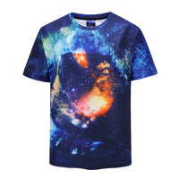 Starry Sky Men's T-shirt Graphic 3D Printed Round-collar Short Sleeve Summer Casual Cool T-Shirts Fashion Top Tees DX802003#