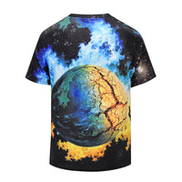 Doomsday The Crack Of Doom Mens T-shirt Graphic 3D Printed Round-collar Short Sleeve Summer Casual Cool T-Shirts Fashion Top Tees DX802007# -  Cycling Apparel, Cycling Accessories | BestForCycling.com