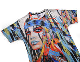 Abstract Painting Mens T-shirt Graphic 3D Printed Round-collar Short Sleeve Summer Casual Cool T-Shirts Fashion Top Tees DX803003# -  Cycling Apparel, Cycling Accessories | BestForCycling.com