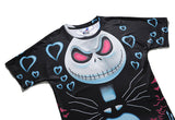 Romantic Skull Mens T-shirt Graphic 3D Printed Round-collar Short Sleeve Summer Casual Cool T-Shirts Fashion Top Tees DX803008#