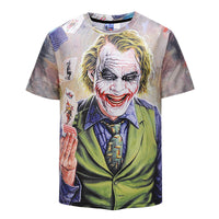 Magician Clown Mens T-shirt Graphic 3D Printed Round-collar Short Sleeve Summer Casual Cool T-Shirts Fashion Top Tees DX803001#