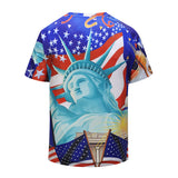 American Statue of Liberty Mens T-shirt Graphic 3D Printed Round-collar Short Sleeve Summer Casual Cool T-Shirts Fashion Top Tees DX803006# -  Cycling Apparel, Cycling Accessories | BestForCycling.com