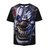 Gothic Clown Mens T-shirt Graphic 3D Printed Round-collar Short Sleeve Summer Casual Cool T-Shirts Fashion Top Tees DX803007# -  Cycling Apparel, Cycling Accessories | BestForCycling.com