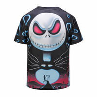 Romantic Skull Mens T-shirt Graphic 3D Printed Round-collar Short Sleeve Summer Casual Cool T-Shirts Fashion Top Tees DX803008# -  Cycling Apparel, Cycling Accessories | BestForCycling.com