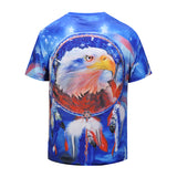 Eagle Blue Mens T-shirt Graphic 3D Printed Round-collar Short Sleeve Summer Casual Cool T-Shirts Fashion Top Tees DX803011# -  Cycling Apparel, Cycling Accessories | BestForCycling.com