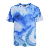 Blue Fresh Mens 3D Printed Round-collar Summer T-Shirts  DX805006# -  Cycling Apparel, Cycling Accessories | BestForCycling.com