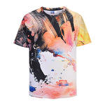 Ink Mens T-shirt Graphic 3D Printed Round-collar Short Sleeve Summer Casual Cool T-Shirts Fashion Top Tees DX805009#