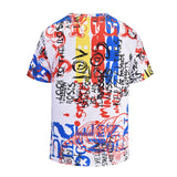 Colorful Graffiti Mens T-shirt Graphic 3D Printed Round-collar Short Sleeve Summer Casual Cool T-Shirts Fashion Top Tees DX805007# -  Cycling Apparel, Cycling Accessories | BestForCycling.com