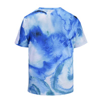 Blue Fresh Mens T-shirt Graphic 3D Printed Round-collar Short Sleeve Summer Casual Cool T-Shirts Fashion Top Tees DX805006# -  Cycling Apparel, Cycling Accessories | BestForCycling.com