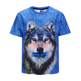 Wolf Blue Mens T-shirt Graphic 3D Printed Round-collar Short Sleeve Summer Casual Cool T-Shirts Fashion Top Tees DX803012# -  Cycling Apparel, Cycling Accessories | BestForCycling.com