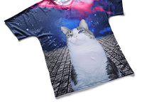 Blue-eye Cat Mens T-shirt Graphic 3D Printed Round-collar Short Sleeve Summer Casual Cool T-Shirts Fashion Top Tees DX803022# -  Cycling Apparel, Cycling Accessories | BestForCycling.com