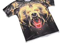 Brown Bear Mens T-shirt Graphic 3D Printed Round-collar Short Sleeve Summer Casual Cool T-Shirts Fashion Top Tees DX803016# -  Cycling Apparel, Cycling Accessories | BestForCycling.com