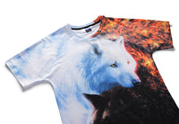White Pure Wolf Mens T-shirt Graphic 3D Printed Round-collar Short Sleeve Summer Casual Cool T-Shirts Fashion Top Tees DX803015# -  Cycling Apparel, Cycling Accessories | BestForCycling.com