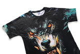 Wolf Fangs Mens T-shirt Graphic 3D Printed Round-collar Short Sleeve Summer Casual Cool T-Shirts Fashion Top Tees DX803025# -  Cycling Apparel, Cycling Accessories | BestForCycling.com