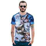 Night Owl Mens T-shirt Graphic 3D Printed Round-collar Short Sleeve Summer Casual Cool T-Shirts Fashion Top Tees DX801006# -  Cycling Apparel, Cycling Accessories | BestForCycling.com