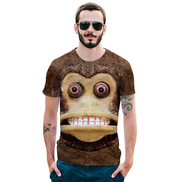 Big Mouth Grinning Monkey Mens T-shirt Graphic 3D Printed Round-collar Short Sleeve Summer Casual Cool T-Shirts Fashion Top Tees DX801009# -  Cycling Apparel, Cycling Accessories | BestForCycling.com