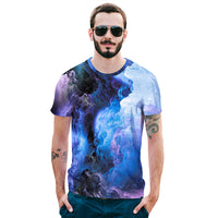 Black & White Clouds Blue Sky Mens T-shirt Graphic 3D Printed Round-collar Short Sleeve Summer Casual Cool T-Shirts Fashion Top Tees DX802011# -  Cycling Apparel, Cycling Accessories | BestForCycling.com
