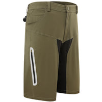 Men's Four-Pocket Summer Quick Dry Loose Fit Elastic Outdoor Sports MTB Shorts Mountain Bike Biking Pants with Zip Pockets Blue/Olive #1505B -  Cycling Apparel, Cycling Accessories | BestForCycling.com