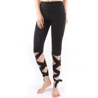 Women Legging Cutout Tie Cuff Slim  Quick Dry Yoga Pants Jogger Workout Tights Tummy Control Workout Gym Yoga Capris Pants Leggings  LBD01 -  Cycling Apparel, Cycling Accessories | BestForCycling.com