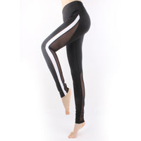 Women Strip Side  Mesh Splicing Quick Dry Yoga Pants Jogger Pro Sports Workout Tights Tummy Control Workout Gym Tight LA01 -  Cycling Apparel, Cycling Accessories | BestForCycling.com