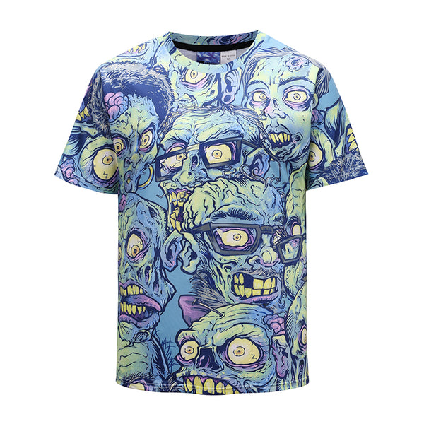 Ugly Faces Mens T-shirt Graphic 3D Printed Round-collar Short Sleeve Summer Casual Cool T-Shirts Fashion Top Tees DX803031#