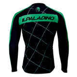 Men's Top Long-sleeve Black Cycling Jersey with Green-strip Mesh Outdoor Leisure Sport Biking Sportswear Suit Winter Bicycle clothing(velvet) 765 -  Cycling Apparel, Cycling Accessories | BestForCycling.com