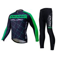 Men's Long-sleeve Black Cycling Jersey with Green-strip  Suit Spring Fall/Autumn NO.765 -  Cycling Apparel, Cycling Accessories | BestForCycling.com
