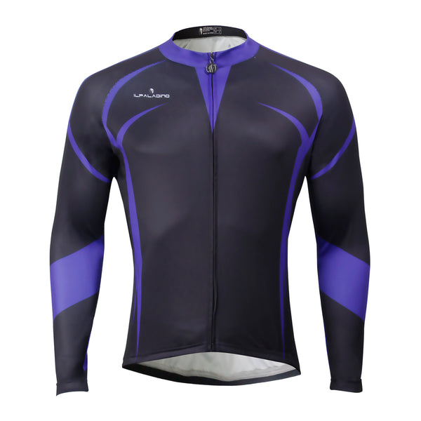 ILPALADINO Men's Black Long Sleeves Cycling Jersey  Spring Autumn Exercise Bicycling Pro Cycle Clothing Racing Apparel Outdoor Sports Leisure Biking Shirts NO.764 -  Cycling Apparel, Cycling Accessories | BestForCycling.com