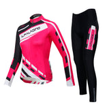 ILPALADINO Women's Long Sleeves Cycling Clothing Apparel Outdoor Sports Leisure Biking Shirt Suits with Tights (Velvet) NO.768 -  Cycling Apparel, Cycling Accessories | BestForCycling.com
