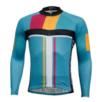 Men's Tops Long-sleeve Blue Winter Cycling Jersey Outdoor Sportswear and Leisure Biking Shirt Fall/Autumn Bicycle clothing (velvet) NO.763 -  Cycling Apparel, Cycling Accessories | BestForCycling.com