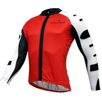 Men's Breathable Long-sleeve White Cycling Jersey with Black-strip Outdoor Leisure Sport Biking Shirt Winter Bicycle Sportswear clothing(velvet) 773 -  Cycling Apparel, Cycling Accessories | BestForCycling.com