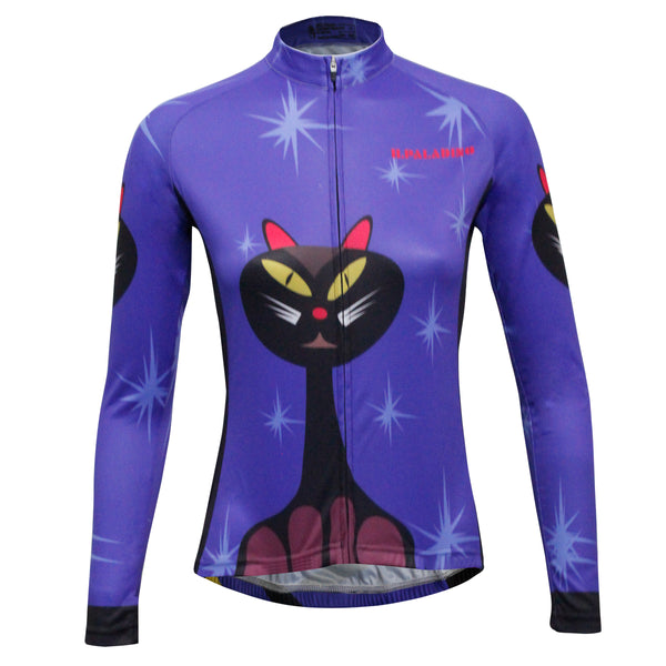 ILPALADINO Women's Sport Long Sleeves Winter Cycling Jerseys Apparel Outdoor Sports Leisure Biking Shirt (Velvet,Cat) NO.777 -  Cycling Apparel, Cycling Accessories | BestForCycling.com