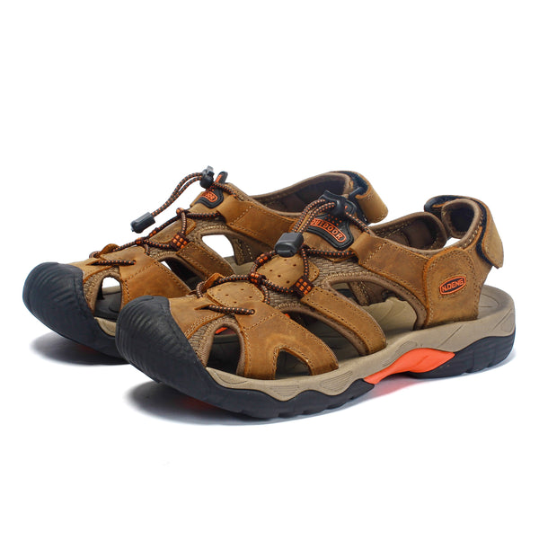 Men's Summer Cool Toe-cap Sandal Leather Thick-soled Outdoor Sports Beach Anti-skidding Wear-resisting Shoes NO. 7009 -  Cycling Apparel, Cycling Accessories | BestForCycling.com