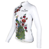 ILPALADINO  Peacock & Flower Women's Tight Long Sleeve Cycling Jerseys Winter Pro Cycle Clothing Racing Apparel Outdoor Sports Leisure Biking shirt  (Velvet) NO.734 -  Cycling Apparel, Cycling Accessories | BestForCycling.com