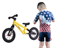 Kids Cycling Jersey Set and Children Road Mountain Bike Short Sleeve with 3D Padded Shorts Breathable